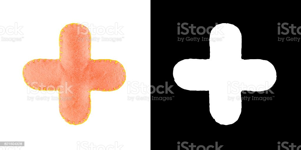 Plus sign isolate on white foto stock royalty-free