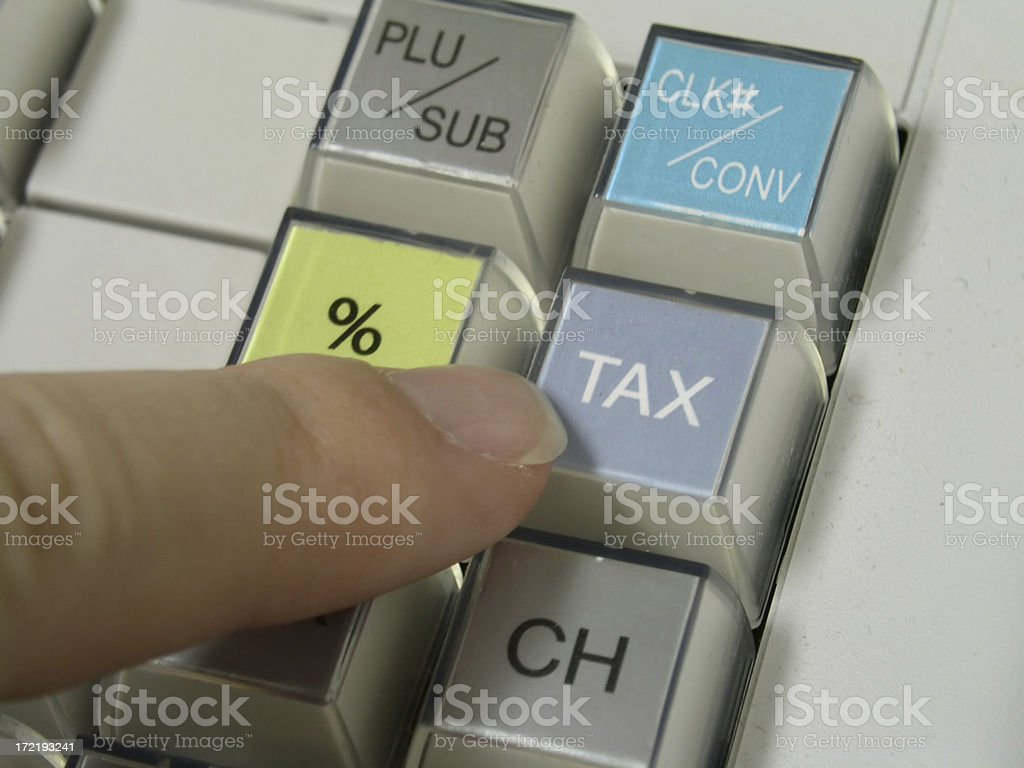 Plus Tax royalty-free stock photo