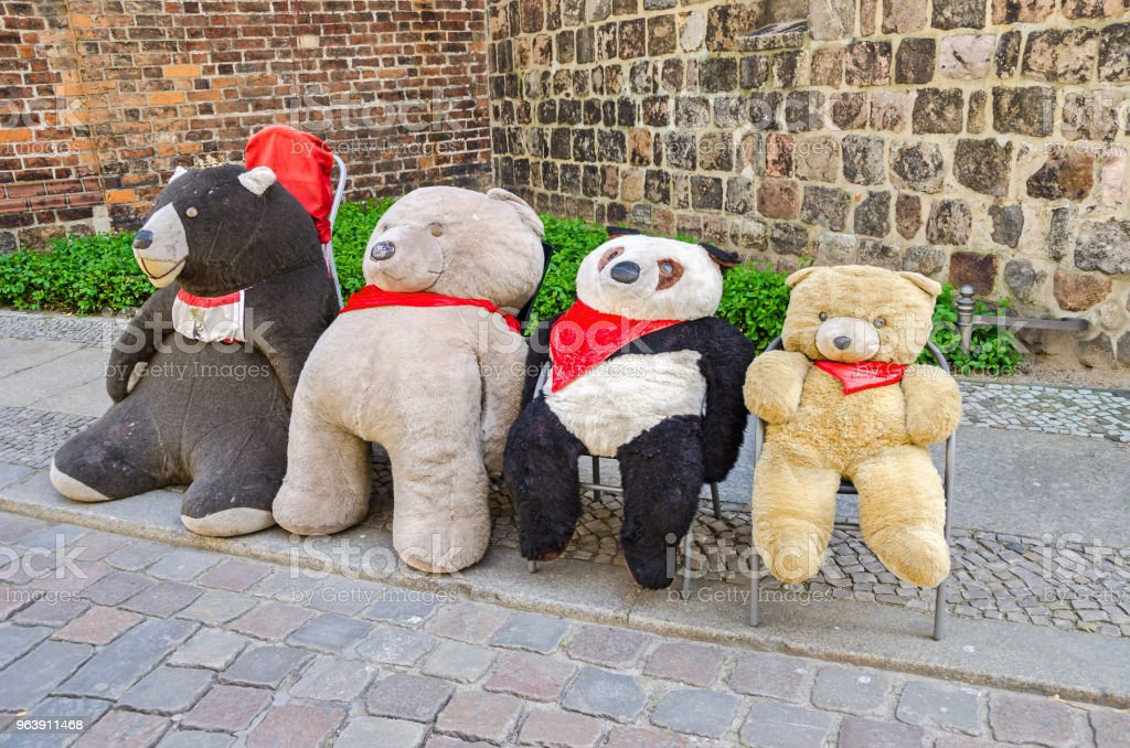 Plush Bears The Symbol Of The City Of Berlin On A Street In