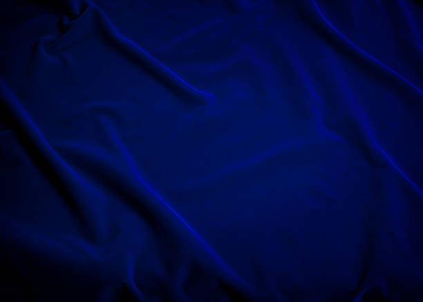 Plush Blue Velvet Fabric Plush blue velvet fabric fills the photo frame.  Excellent for background.  Copy space. royalty stock pictures, royalty-free photos & images