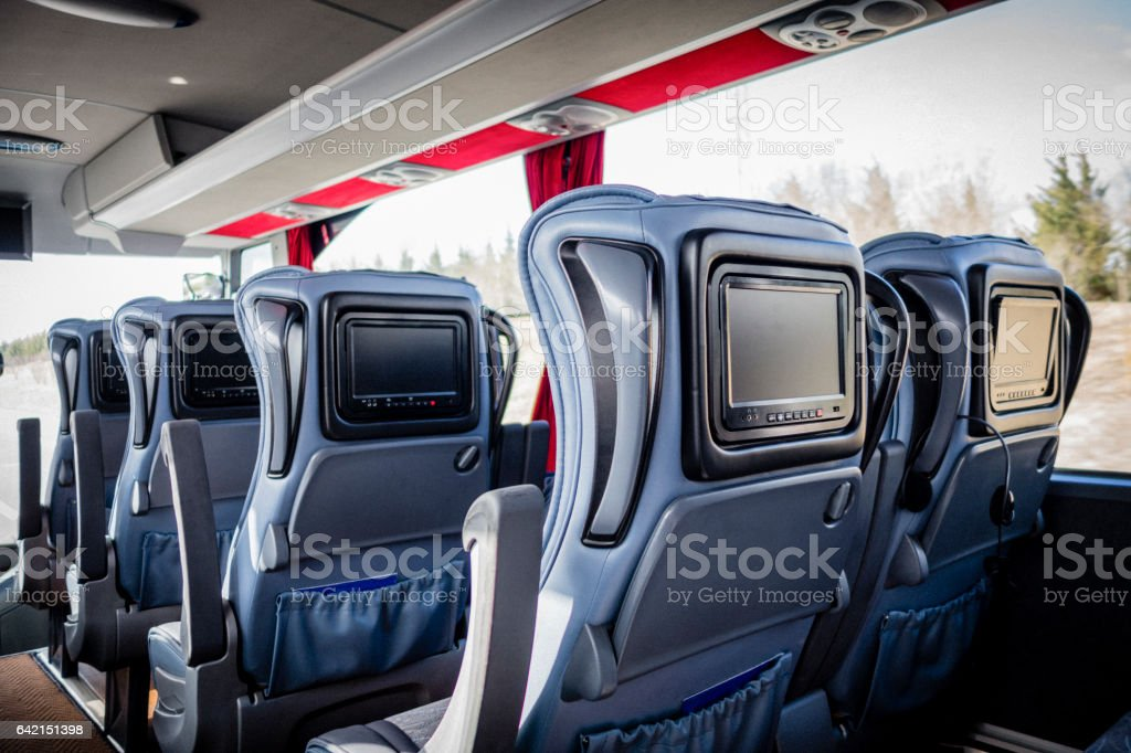 Plush Bus Travel stock photo