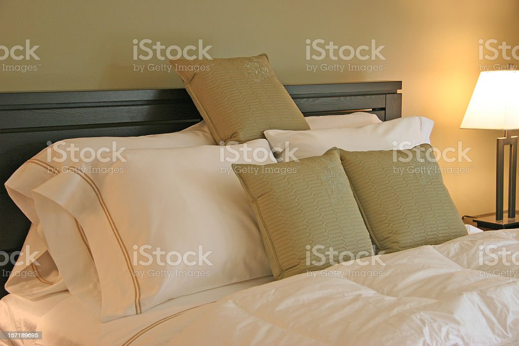 Plush Luxury Bedroom royalty-free stock photo