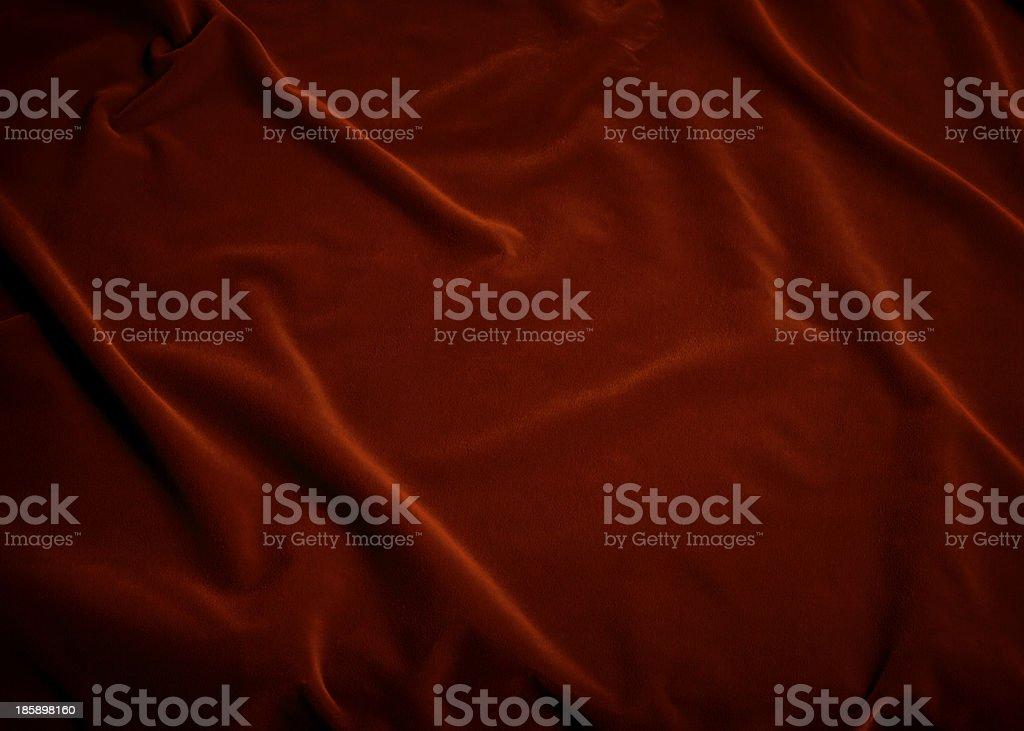 Plush Red Velvet Fabric stock photo