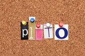 Pluto pinned on noticeboard