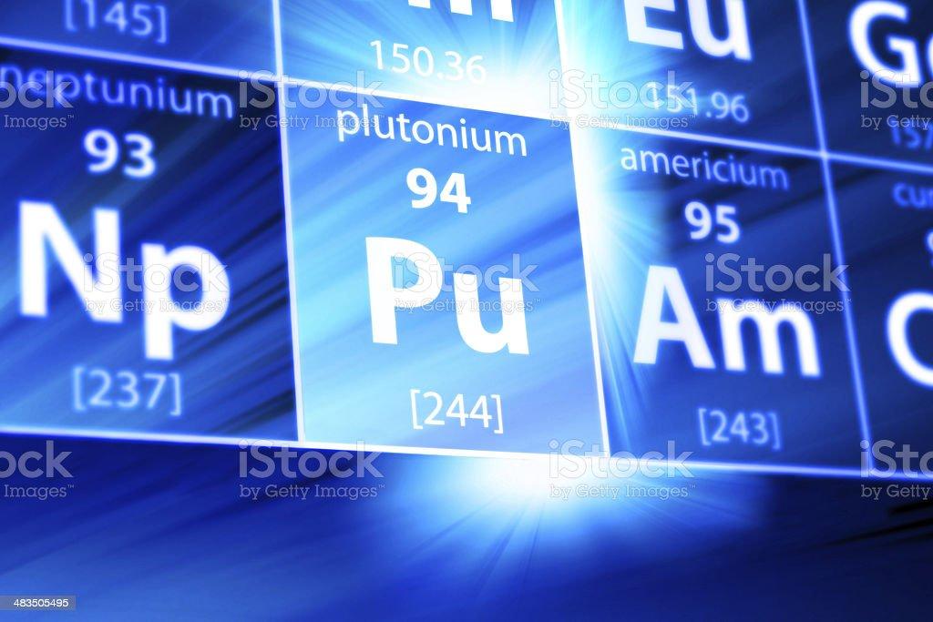Plutonium Pu Periodic Table stock photo