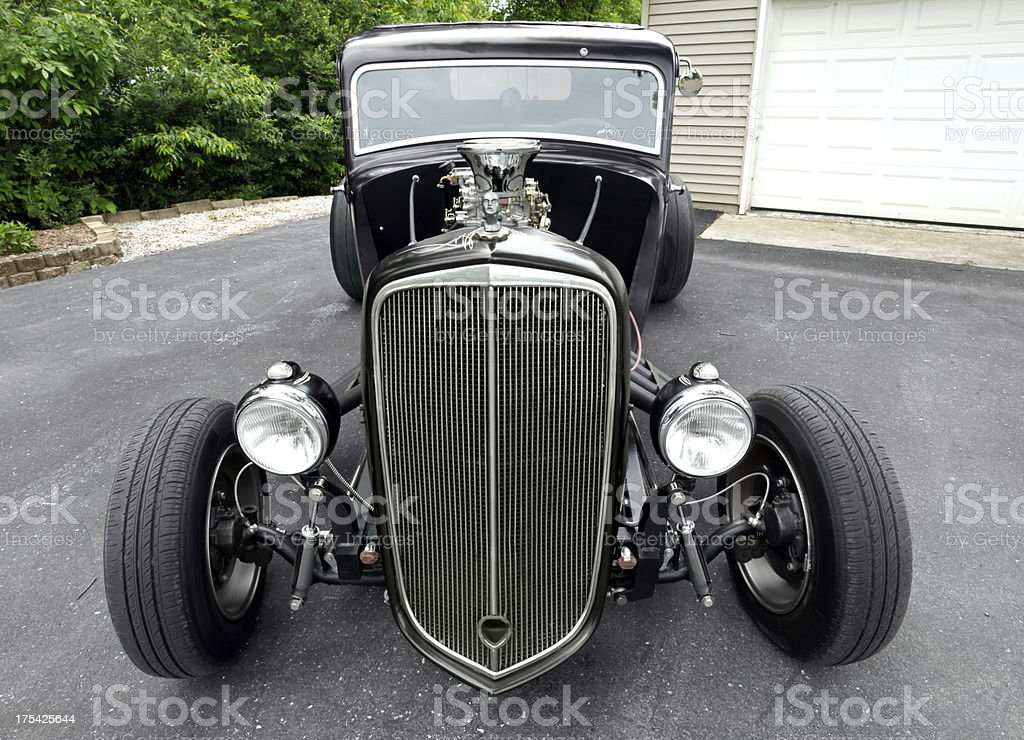 Plymouth hot rod. 1934. Horizontal.  Copy space. royalty-free stock photo
