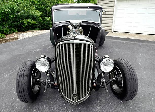 Plymouth hot rod. 1934. Orizzontale. Spazio di copia. - foto stock