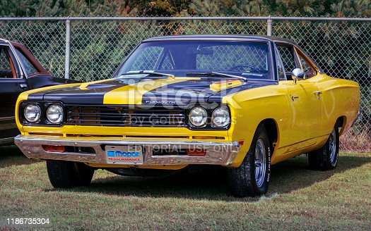 Waterville, Nova Scotia, Canada - September 14, 2019 : 1969 Plymouth Road Runner at Rick Rood