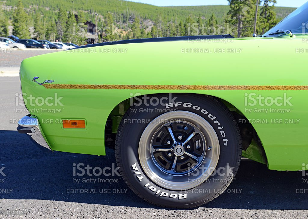 Plymouth Roadrunner is an example of a pure muscle car stock photo