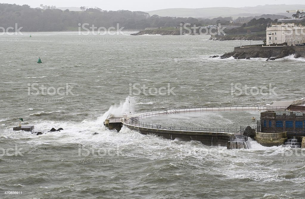 Plymouth Storm On Hoe royalty-free stock photo