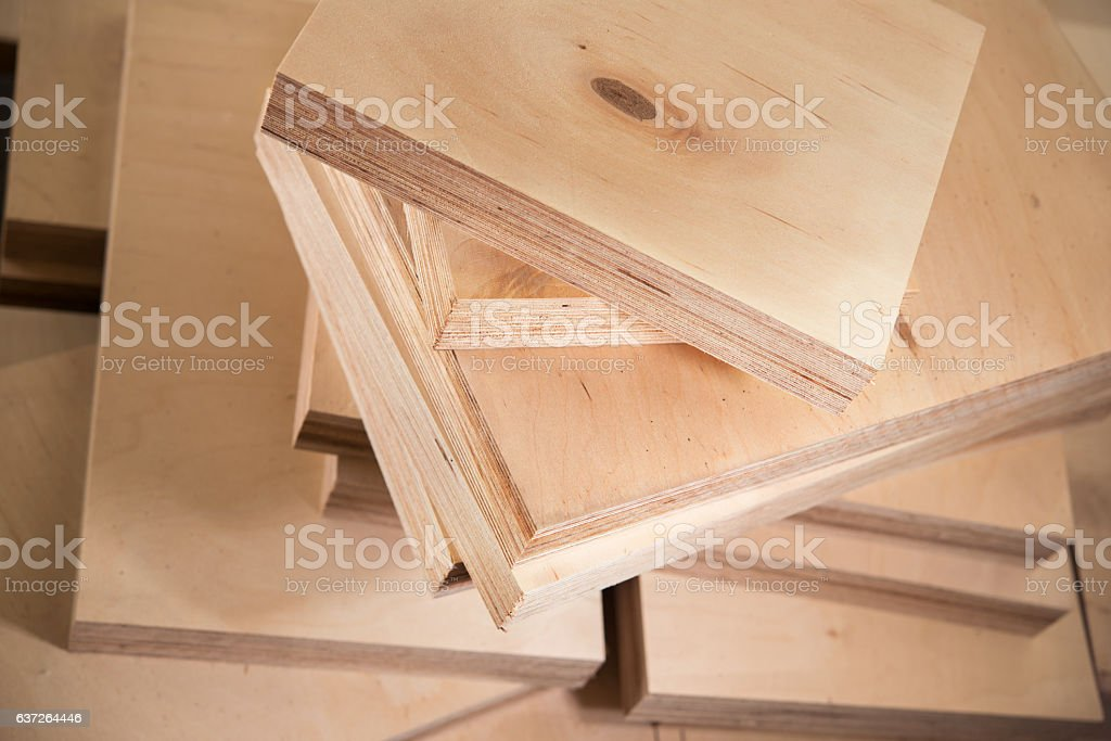 plywood boards on the furniture industry – Foto
