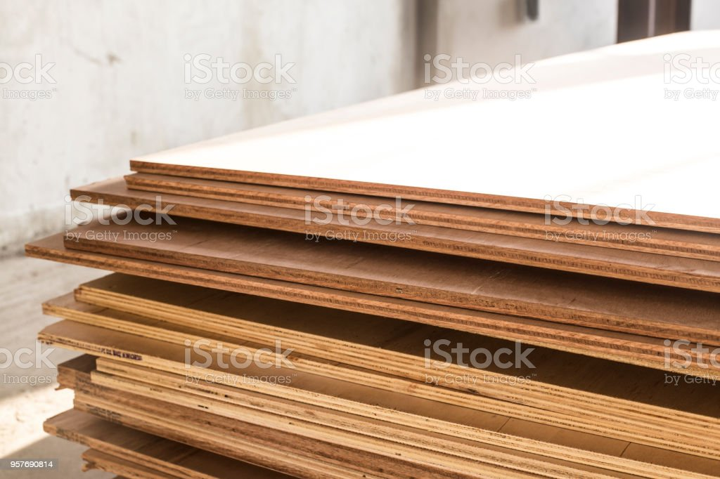plywood boards on the furniture industry