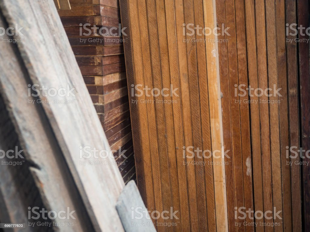 plywood in warehouse stock photo