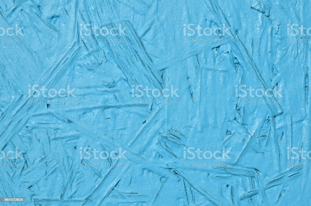 Plywood panel painted in blue royalty-free stock photo