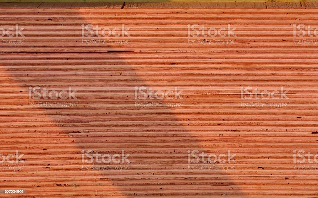 Plywood Sheets Edge stock photo