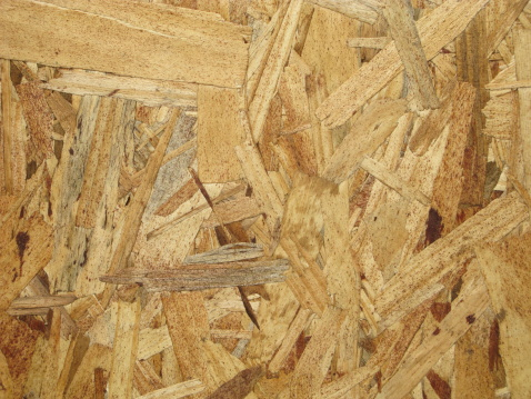 Osb Plywood Wood Waferboard Chipboard Construction Stock Photo - Download Image Now