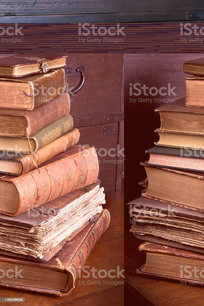 Pmd library pile royalty-free stock photo