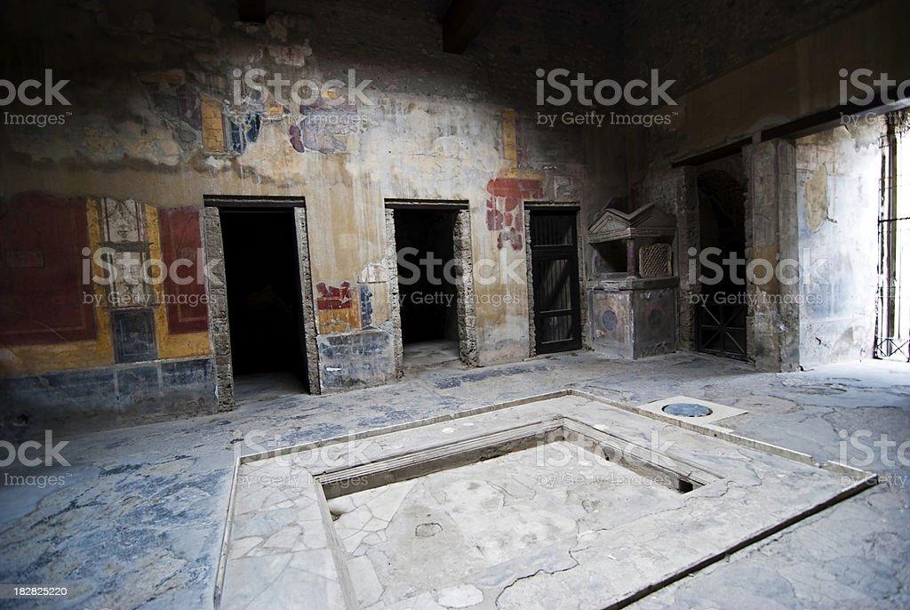 Pmpeii, Roman house of Menandro stock photo