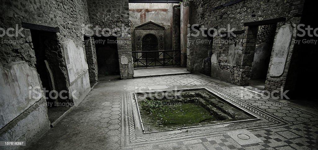 Pmpeii, Roman house stock photo