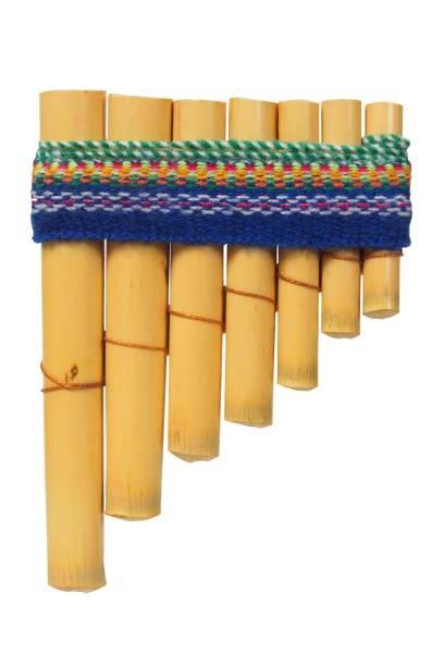 Pna flute on white stock photo