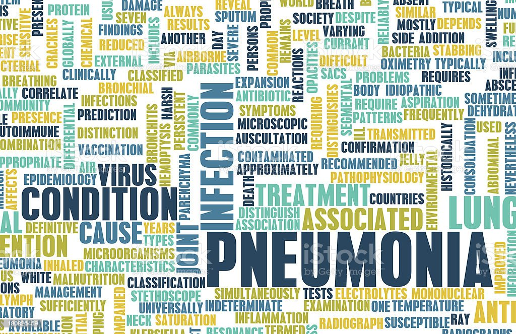Pneumonia royalty-free stock photo