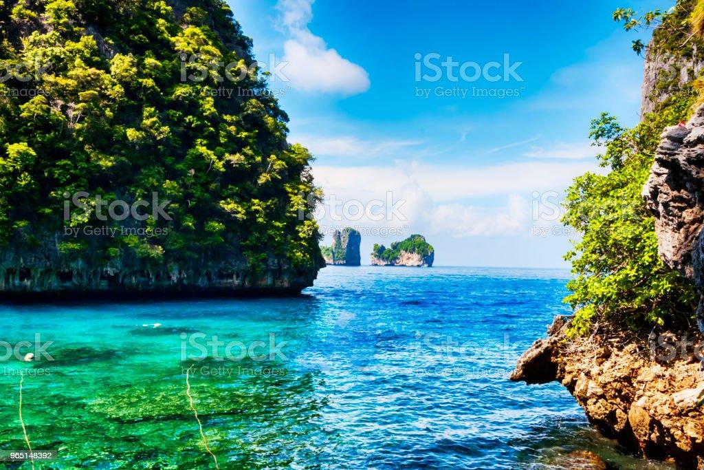 Pnorama at Ko Phi Phi Lee island - Thailand zbiór zdjęć royalty-free
