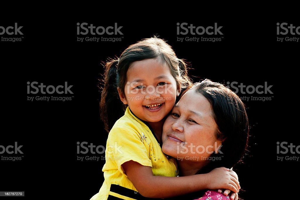 Po Karen Mother and Child royalty-free stock photo