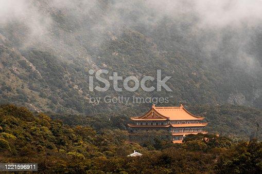 Po Lin Monastery on Lantau Island, Hong Kong.