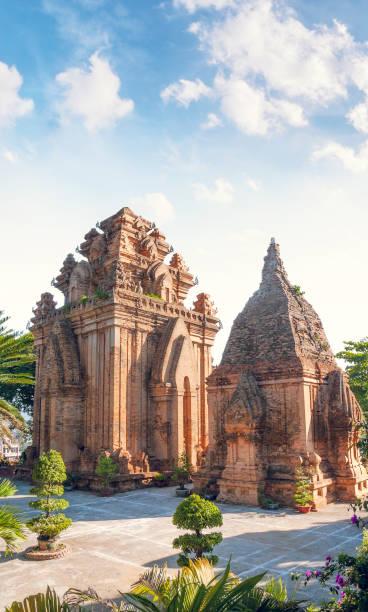 Po Nagar Cham Towers In Nha Trang, Vietnam stock photo