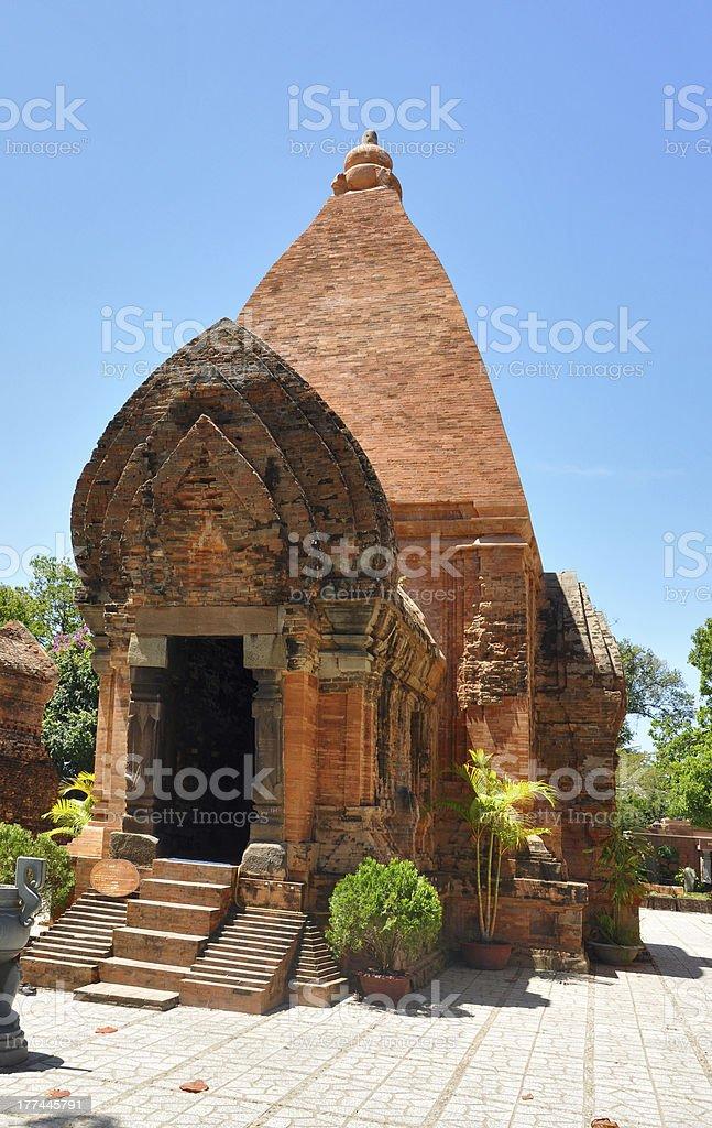 Po Nagar Cham towers, Nha Trang. stock photo