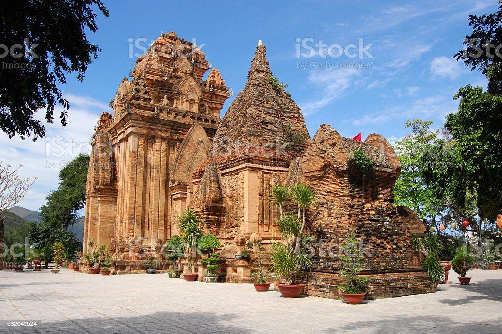 Po Nagar Cham towers, Nha Trang, Vietnam stock photo