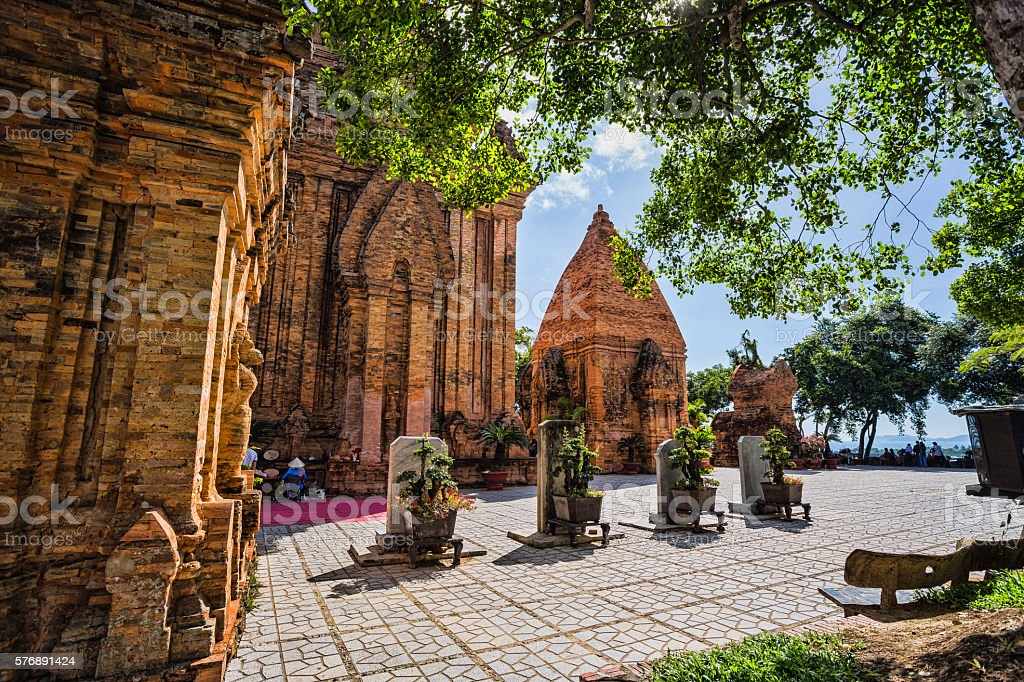 Po Ngar Cham Towers in Nha Trang stock photo