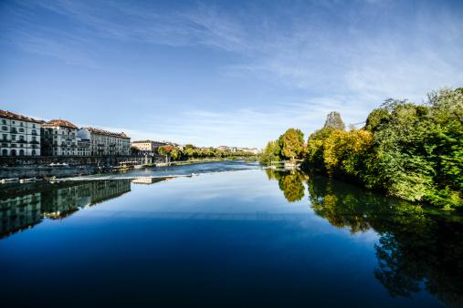 Po river in Turin