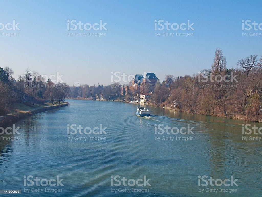 Po river in Turin stock photo