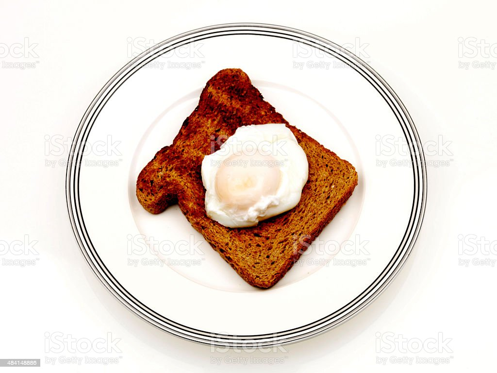Poached Egg on Wholemeal Toast stock photo