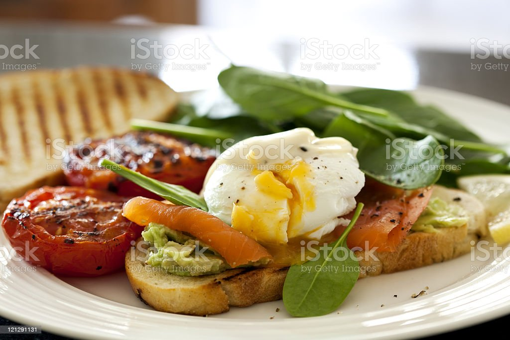 Poached Egg royalty-free stock photo