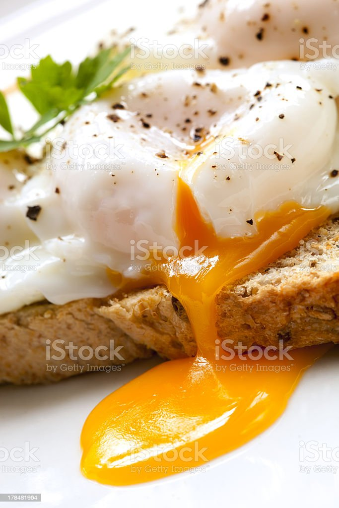 Poached Eggs on Toast royalty-free stock photo