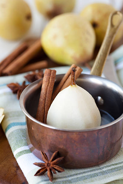 Poached Pear stock photo