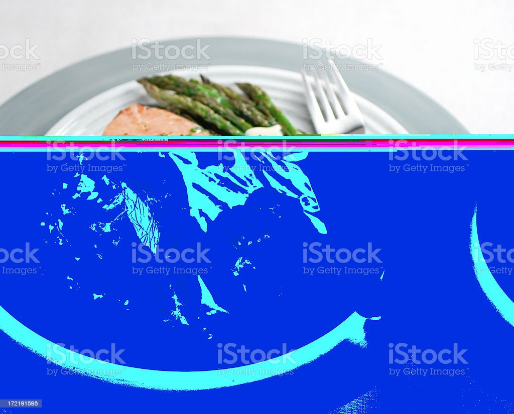 Poached Salmon Dinner royalty-free stock photo