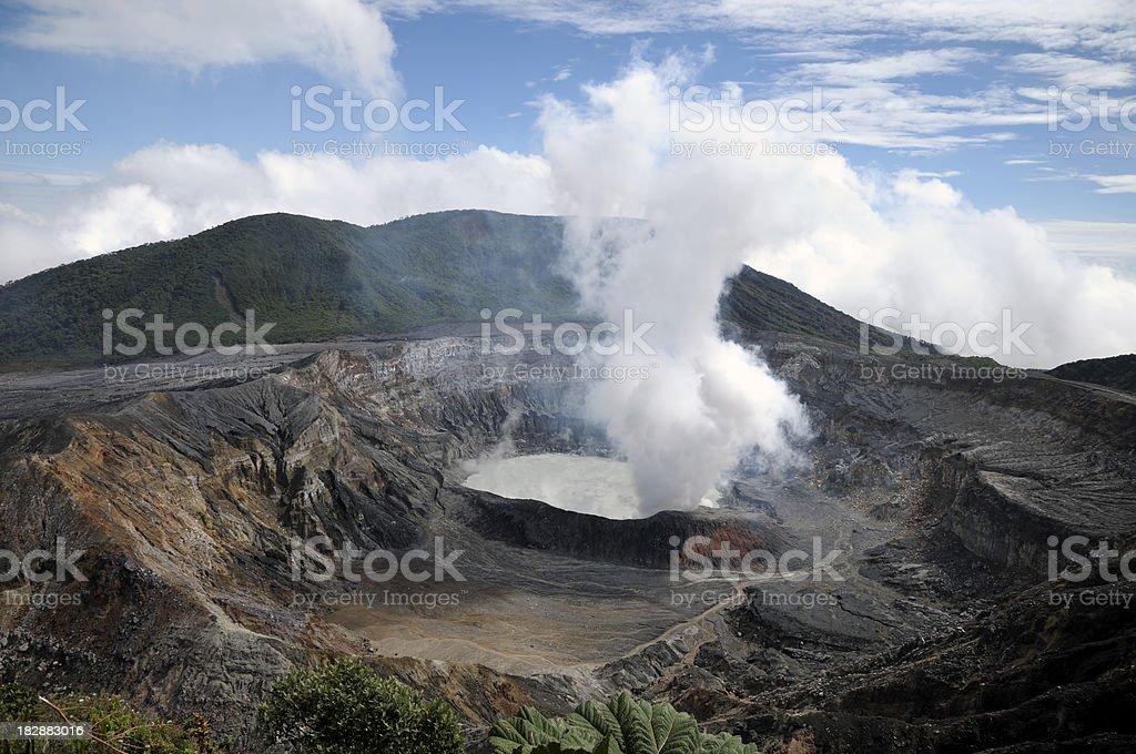Poas. Costa Rica stock photo