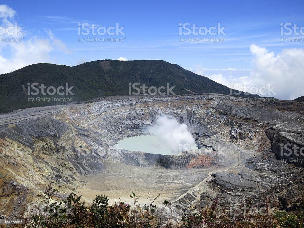 Poas Volcano, Costa Rica stock photo