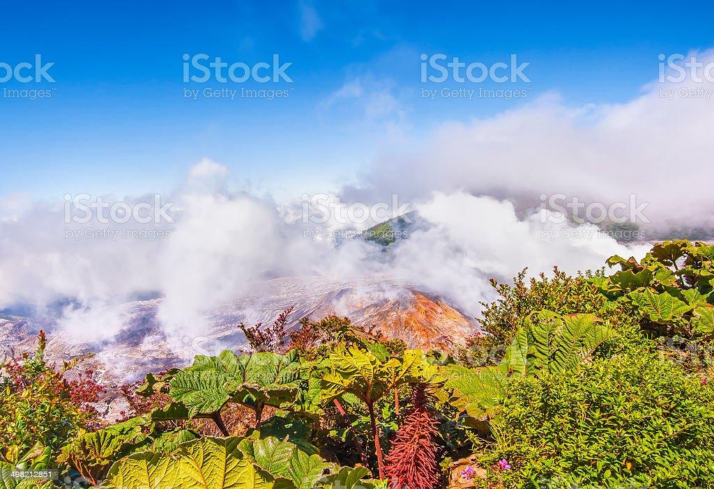 Poas Volcano Costa Rica stock photo