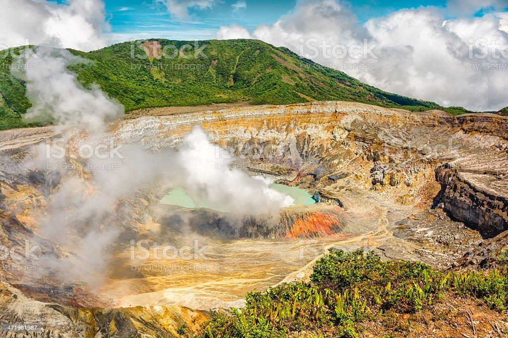 Poas Volcano Crater stock photo