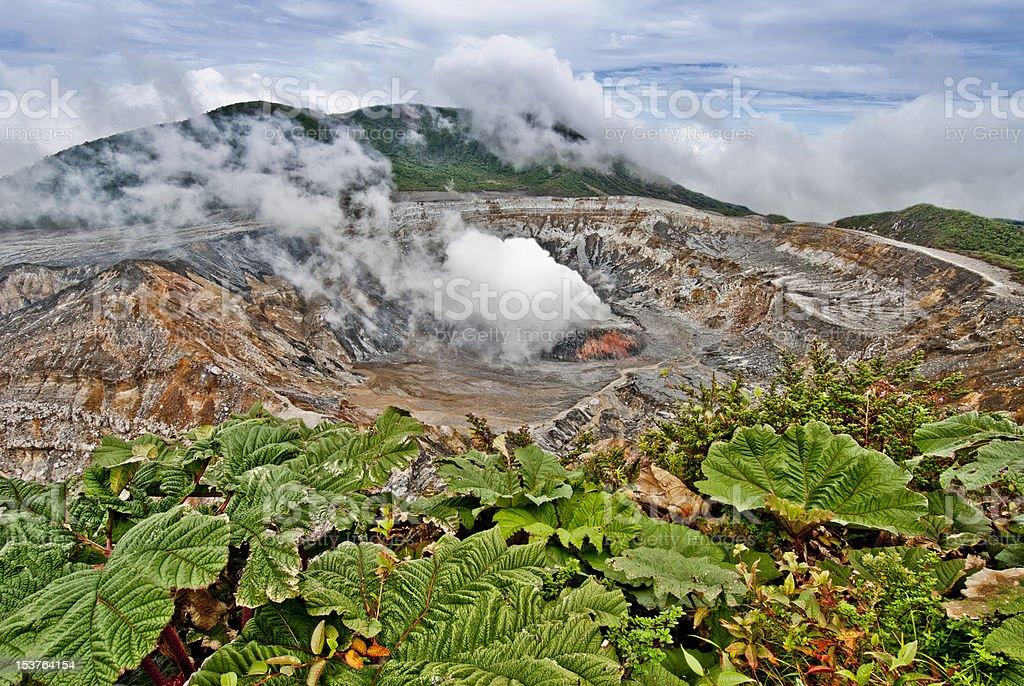 Poas volcano in Costa Rica stock photo
