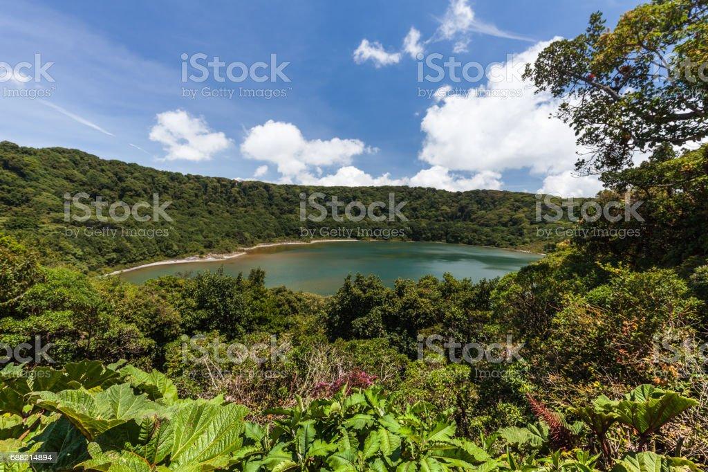 Poas volcano national park, Costa Rica stock photo