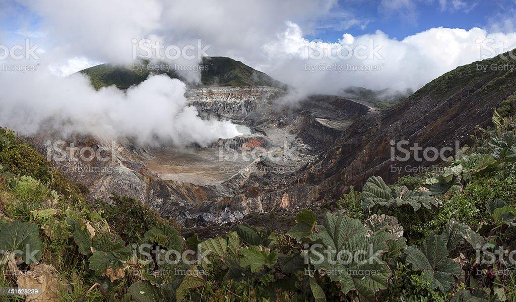 Poas volcano of Costa Rica in Central America stock photo