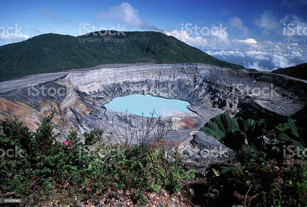 Poas Volcano stock photo