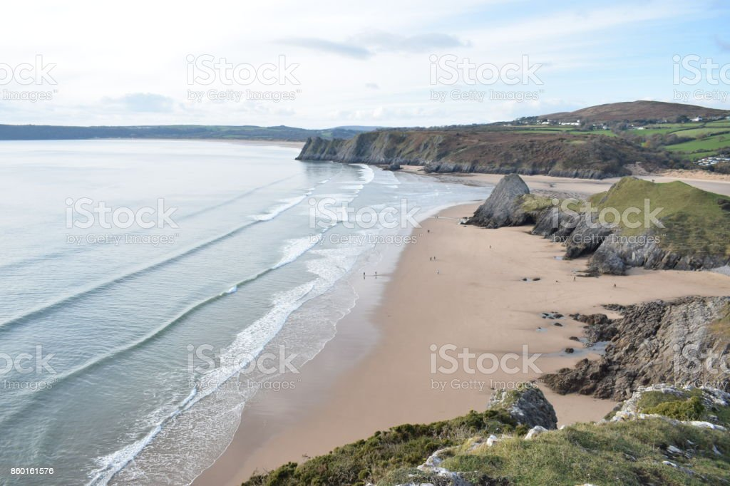 Pobbles Bay, Gower Peninsular, UK stock photo
