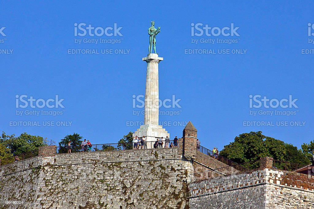 Pobednik - Victor Monument, Belgrade stock photo