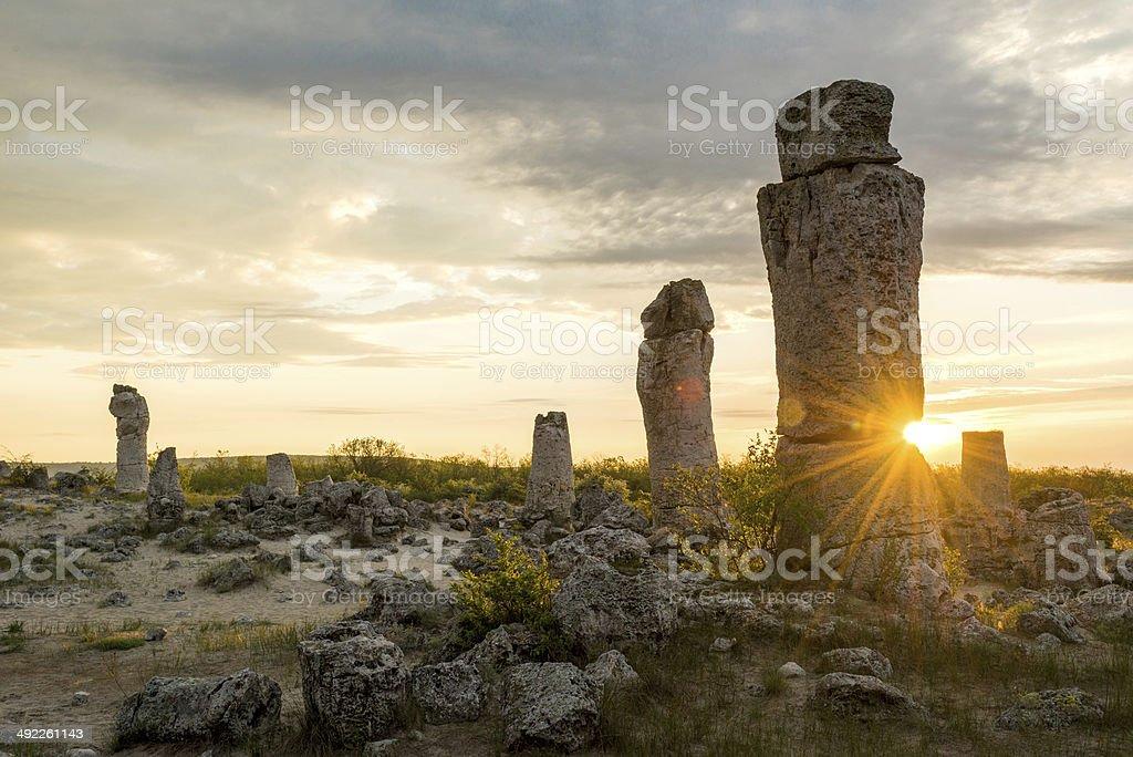 Pobiti kamani - phenomenon rock formations in Bulgaria near Varna stock photo